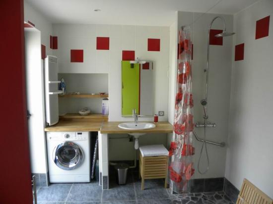 la salle de bains avec douche à l'italienne
